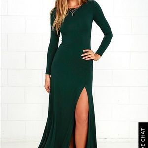 Lulus Forest Green Bodycon Maxi Dress